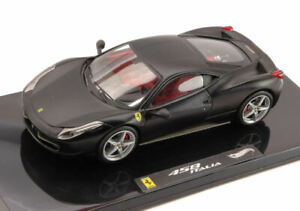 Ferrari 458 Italia Matt Black Elite Edición 1:43 Modelo Hot Wheels