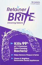 Tabletas Limpieza Retenedor Dental, 96 Piezas Suficientes Para 3 Meses De Uso