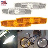 US 1 Pair Warning Lights Wheel Reflective Bike Bicycle Mountain Spoke Reflector