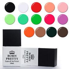 10ml Pure Tipss Nail UV Lamp Soak Off UV Gel Polish White Black Born Pretty