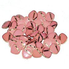 Mercerie Lot de 5 petits Boutons vintages plastique doré émail rose 12mm button