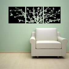 CHERRY BLOSSOMS FLOWER TREE+HUMMINGBIRDS VINYL WALL DECAL STICKER ART-HOME DECOR
