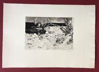 Herbert Grunwaldt, Steiniges Ufer, Radierung, 1963, handsigniert