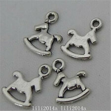 50x Tibetan Silver Horse Animal Pendant Charms Beads Accessories WholesalePL1084