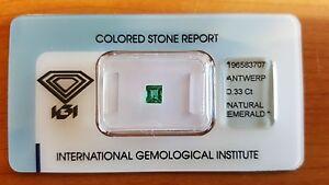 IGI Certified Brazilian Natural Emerald 0.33 carats Transparent Stunning Stone