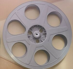 EIGHT 35mm motion picture 2000' film reels - Classic plastic shippers