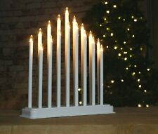 17 White Candle Bridge Traditional Arch Christmas Decoration Pipe Lights Window