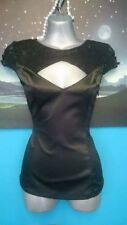 Jane Norman new top size s small 6 blouse black sparkly wedding party