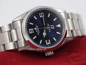 Alpha Explorer mechanical automatic men's watch sapphire crystal