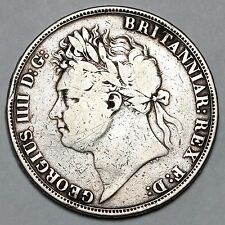 1822 KING GEORGE IV IIII GREAT BRITAIN SILVER CROWN COIN