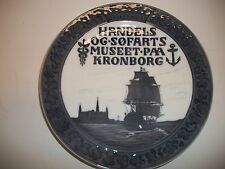 "Royal Copenhagen Plate 1918 Castle&War Ship 8"" 1,435 Made Rc#176 / See Details"