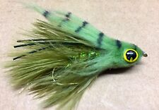 CRAVEN'S GONGA STREAMER FLY. OLIVE SIZE #2. FLY FISH RAINBOW TROUT.