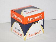 NOS Vintage Spalding No. 1 Official Major League Baseball New Game Ball In Box