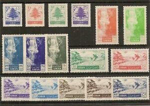 LEBANON 1955 POSTAGE &  AIR SG510/25 MNH