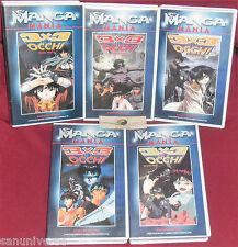 VHS MANGA HORROR-3x3 OCCHI TRINETRA 1,2,3,4,5 SERIE COMPLETA-ANIME INEDITO DVD x