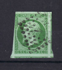 NAPOLEON  N°12   5 c vert Signé Roumet, Losange petit chiffre 4 voisins STAMP