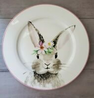 NEW (4) CIROA EASTER FLORAL BUNNY DINNER PLATES Spring Home Dining Decor