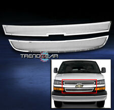 2003-2014 CHEVY EXPRESS CARGO VAN FRONT UPPER STAINLESS STEEL MESH GRILLE CHROME