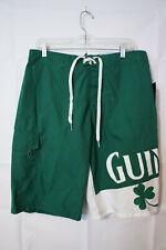 d15cbd0ccd Guinness Men's Swim Trunks Board Shorts White Green Clover Beer Large