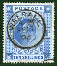 GB KEVII Stamp SG.265 10s High Value Superb Used 1903 CDS c£500+50%=£750 GRED13