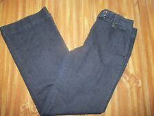 Women's size 6 Talbots denim cotton dress pants jeans LIKE NOT WORN! dark blue