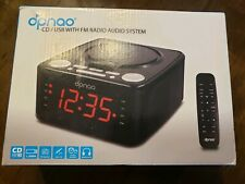 Dpnao YW-010 CD Player Clock FM Radio With USB Port Pink Alarm Clock Remote Cont
