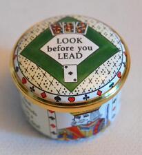 Halcyon Days Enamels English Miniature Bridge Cards Trinket Box