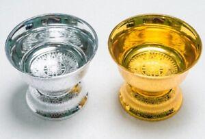 VINTAGE GOLD& SILVER TRAY BOWL ALTAR FOOD BUDDHA AMULET THAI HOME VASE SPA DECOR