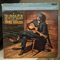 "JIMMIE RODGERS - My Rough & Rowdy Ways (ANL1-1209(e)) - 12"" Vinyl Record LP - VG"