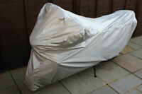 Laser Tools 5105 Water Resistant Motorcycle Cover Medium Grey Silver Colour