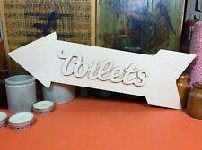 WOODEN TOILETS ARROW SET SIGN Shape 34cm (x1) plywood shapes wedding crafts