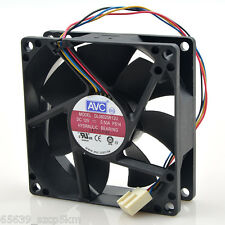 AVC DL08025R12U 80x80x25mm PWM Chassis Cooling Fan 12V 0.50A 4Wire 4Pin
