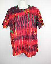 Tie Dye T-Shirt Top Retro Festival Hippy Batik Tye Die Rave T Shirt Nepal Z06