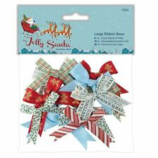 Do-crafts Grande Fiocchi Di Nastro 12pz Jolly Babbo Natale