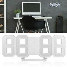Modern Design Digital LED Table Night Wall Clock Alarm Watch 24/12 Hour Display