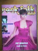 ROCK FOLK N°203 1983 KEITH RICHARDS BOB DYLAN POSTER PAT BENATAR