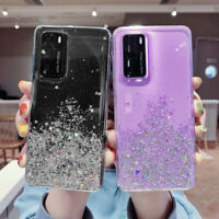 For Huawei P40 P30 Pro Mate 30 20 Lite P Smart Glitter Clear Soft Case Cover