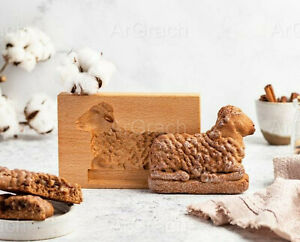 Lamb mold, crafted wooden biscuit mold, cookie gingerbread Aries mold Lamb stamp