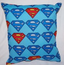 New Handmade Superman Symbol Blue Superhero Travel/ Toddler/ Bed/ Car Pillow