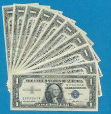 10-$1.00 1957-57-A-57-B,  SILVER CERTIFICATES  LIGHTLY  CIRCULATED  DEALERS LOT
