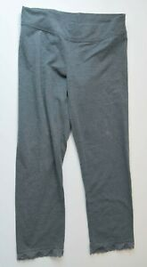 Woman's HOLLISTER Grey Tights Cropped Bottoms Junior Size Medium M