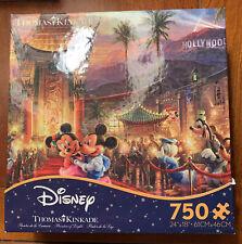 "New ListingThomas Kinkade Disney ""Painter Of Light� 750 Pc Puzzle Mickey And Minnie Mouse"