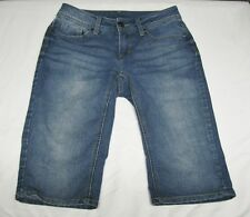 EUC - Faded Glory Medium Dark Wash Denim Bermuda Shorts-Sz 4 - Mid Rise Women's