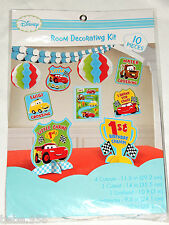 NEW CARS  BABY'S 1st BIRTHDAY!   ROOM  DECORATING KIT 10pcs PARTY SUPPLIES