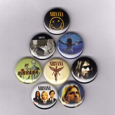 """NIRVANA 1"""" PINS / BUTTONS nevermind in utero kurt cobain shirt poster patch logo"""