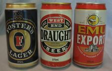 New listing 3 Vintage Australian Beer Cans Bottom Opened Fair to Good Shape from Late 1990s