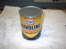 Vintage Texaco Havoline Motor Oil Metal Quart Can Super Premium 10W40 Vintage
