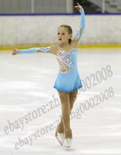 Ice/Figure skating dress.Blue Competition Rhythmic Gymnastics dance costume