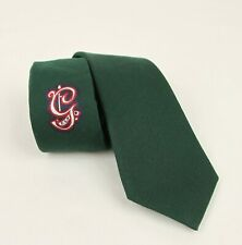 Gucci Green Wool/Silk Tie with BRW Embroidered G 521715 3173