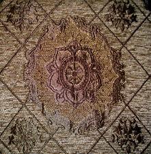 Polsterstoff Möbelstoff Stoff Barock Antik Jaquard Chenille Webstoff Hellbraun
